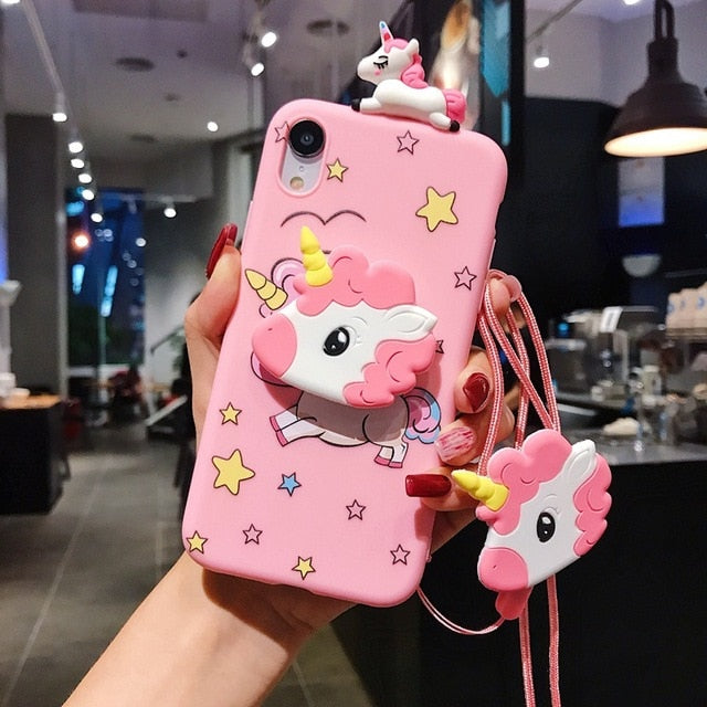 Kawaii Funny Pink Pig Nose Stand Phone Case For IPHONE AHA190039