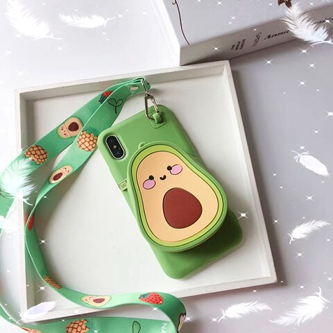 Kawaii Zipper Wallet Phone Case for IPHONE AHA293383