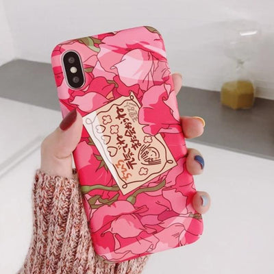Harajuku Kawaii Anime Girl Quote Phone Case For IPHONE AHA182302