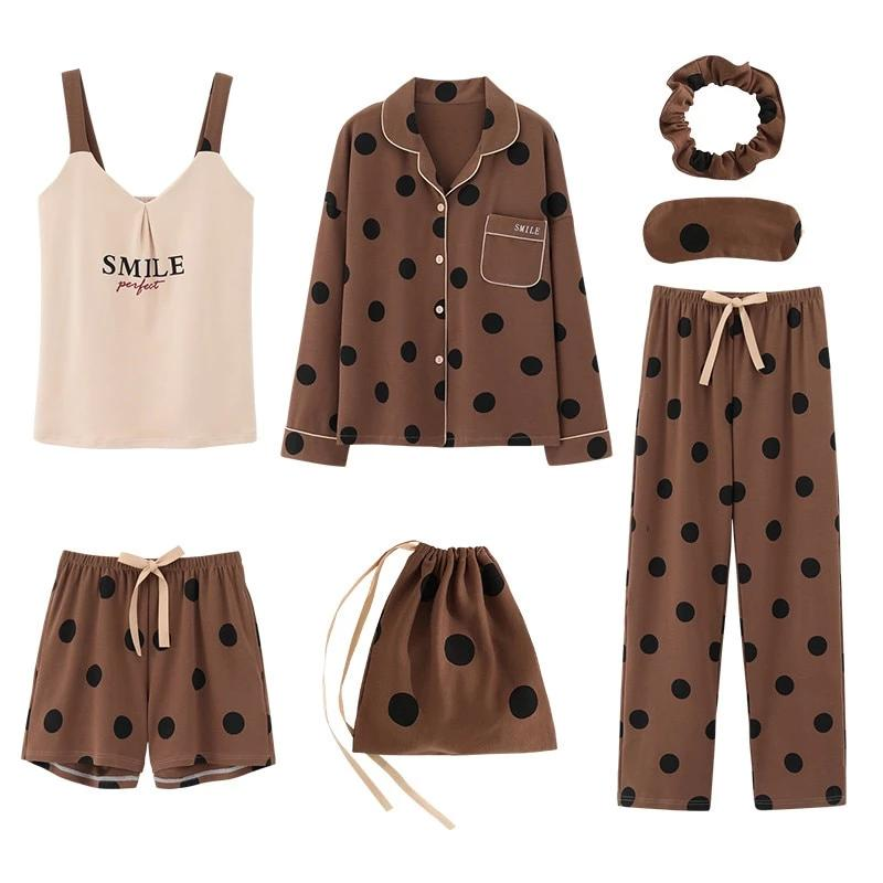 Plus Size Kawaii Vintage Print Pajamas Set AHA209985