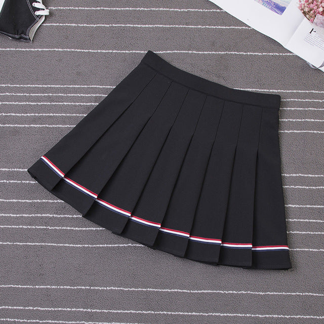 Ulzzang Kawaii Mini Pleated Skirt AHA4439