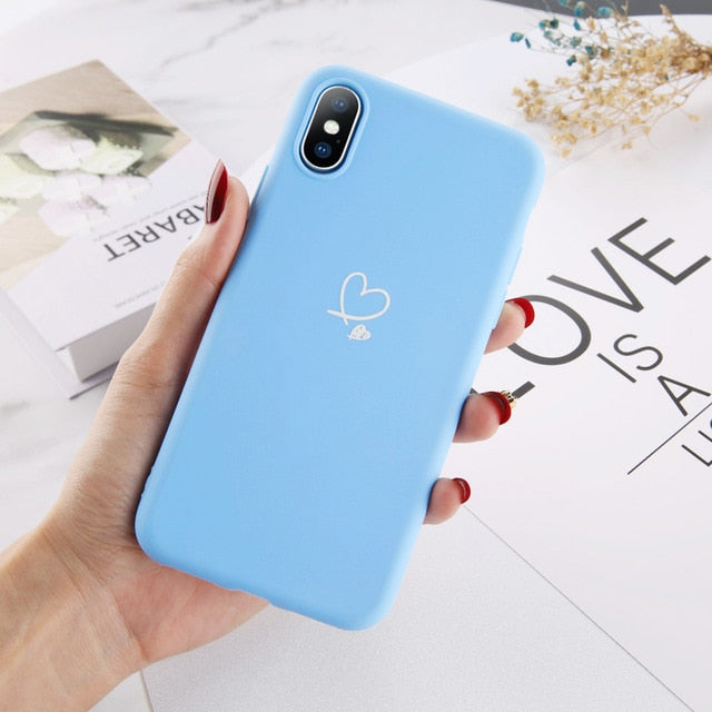 Kawaii Colorful Love Heart Phone Case For IPHONE AHA182765
