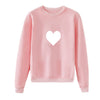 Plus Size Kawaii Heart Print Sweatshirt AHA693847