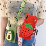 Kawaii Zipper Wallet Phone Case for SAMSUNG AHA293883