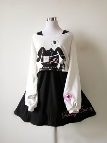 Harajuku Comic Rabbit Dress JHG872