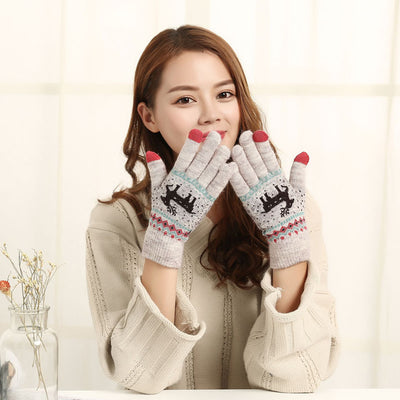Vintage Christmas Touch Screen Gloves AHA1118