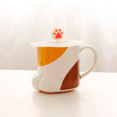 1pc Cat Paw Cup Coffee Ceramic Mug AHA4203
