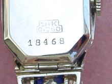 Load image into Gallery viewer, ANTIQUE ART DECO DAMOND SAPPHIRE SWISS MOVEMENT COCKTAIL WATCH WRISTWATCH 1930