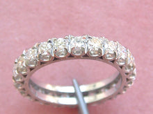 Load image into Gallery viewer, VINTAGE 1.84ctw BRILLIANT DIAMOND WHITE 18K GOLD ETERNITY BAND RING 1950 size 7