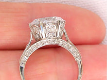 Load image into Gallery viewer, ANTIQUE STYLE .60ct DIAMOND ARCH PLATINUM SOLTIAIRE ENGAGMENT 11mm RING MOUNTING
