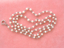 "Load image into Gallery viewer, ANTIQUE STYLE 2.4 - 2.7 mm PEARL PLATINUM 15-3/4"" CHAIN NECKLACE"
