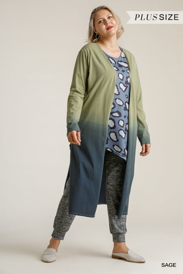 Curvy Ombre Lightweight Duster Cardigan