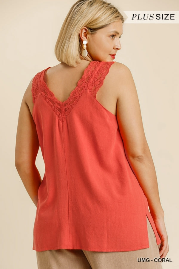 Curvy Tank Top In 2 Colors