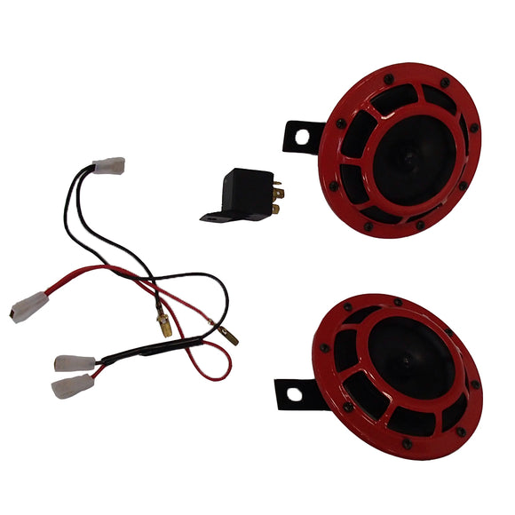 ELL70-0073-AIC 12V Red Grill Horn Set