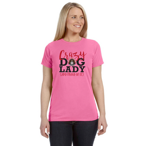 "Women's  ""Crazy Dog Lady""  Fitted T-Shirt"