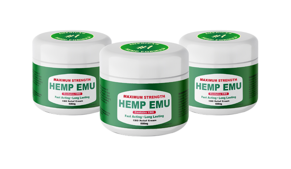 *Limited Time* 3 Pack Bundle Max Strength 1500mg CBD Relief Cream, 4 oz