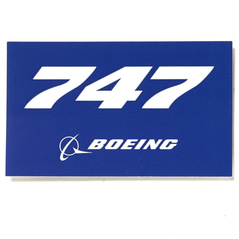 747 Sticker Blue