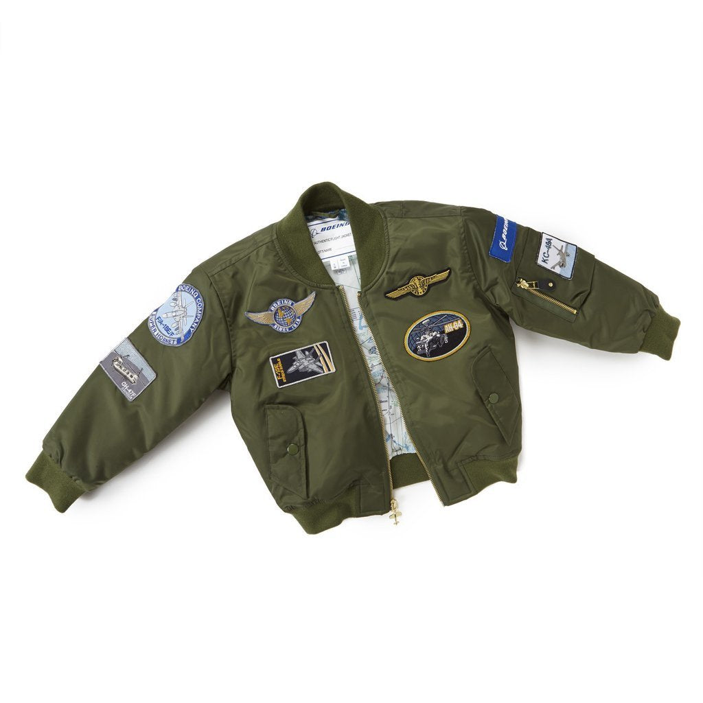 Boeing Kids Aviator Jacket - Green