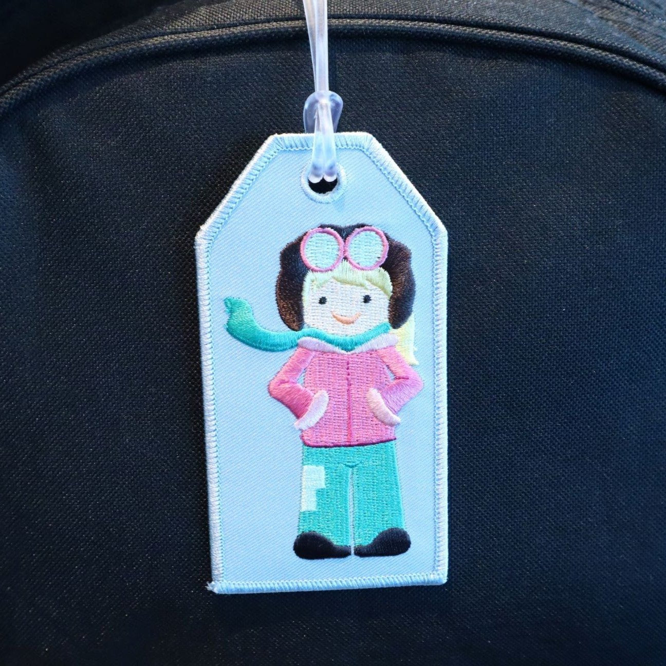 Aviator Girl - Bag Tag