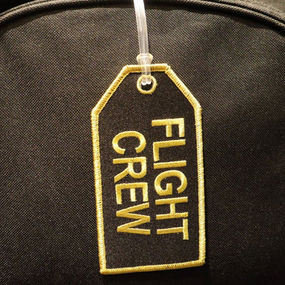 Flight Crew Black - Bag Tag