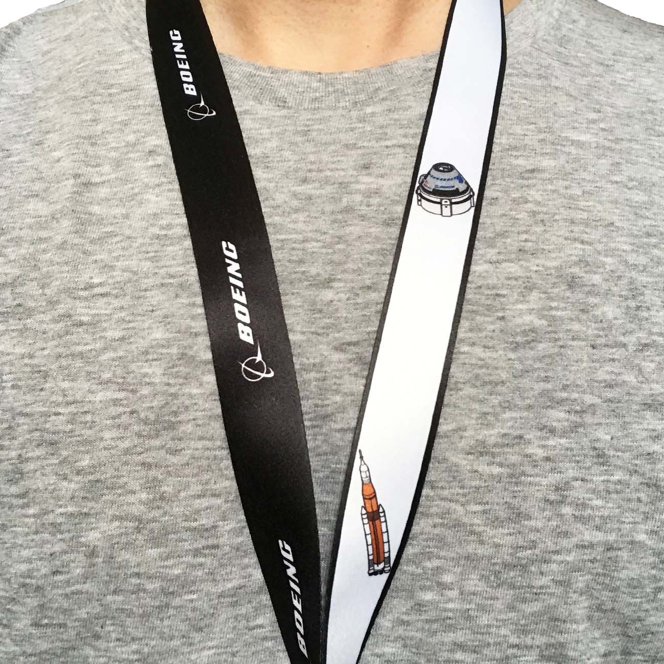 Boeing Illustrated Space Family Lanyard