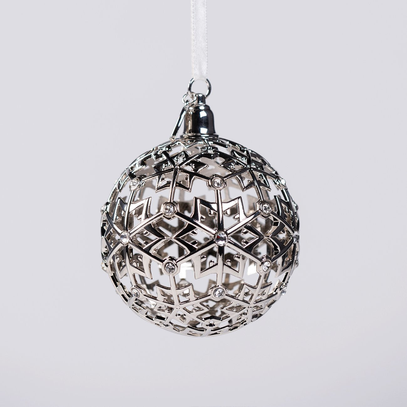 Boeing Jet Snowflake Ball Holiday Ornament