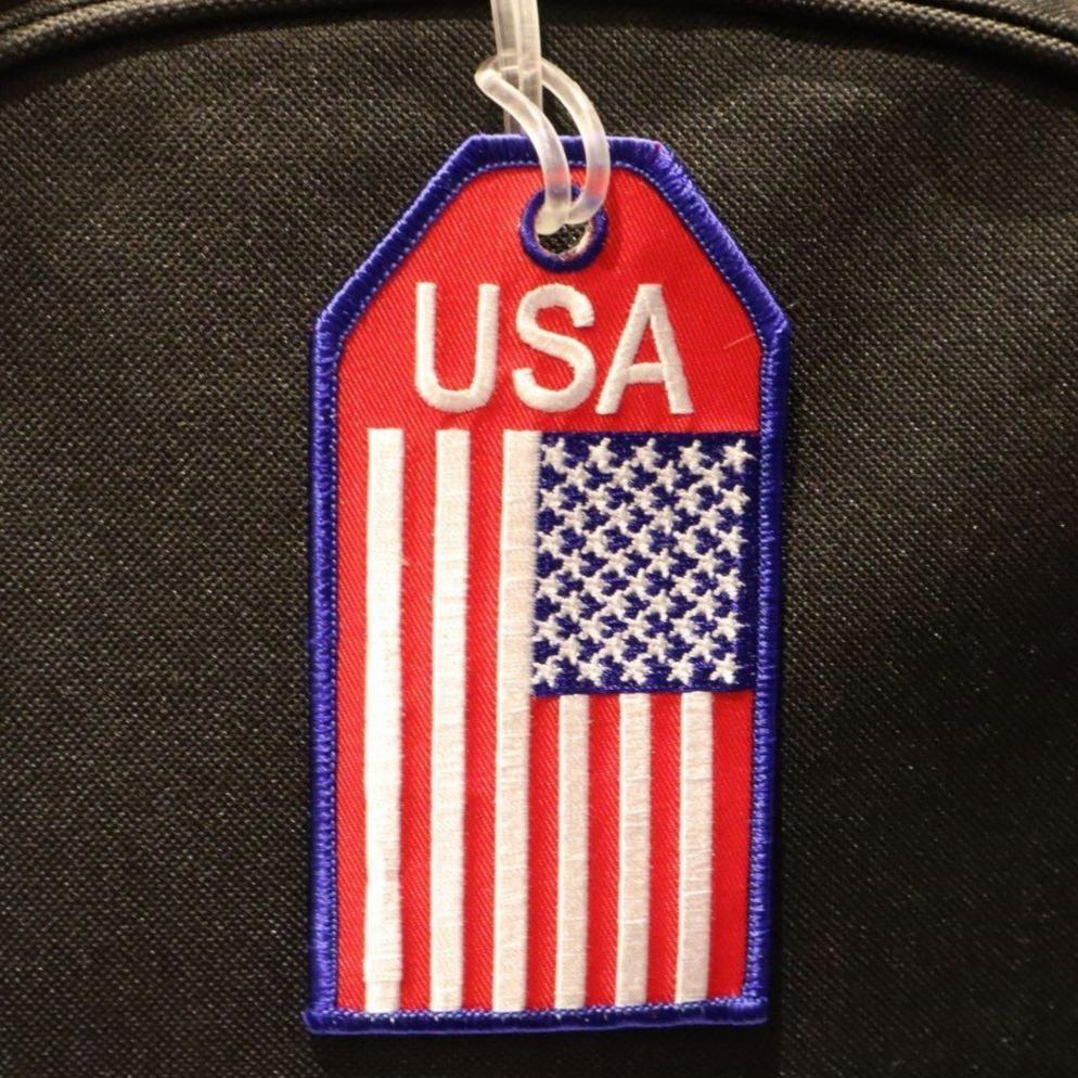 USA Flag - Bag Tag
