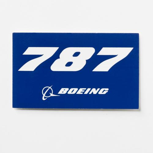 787 Sticker Blue