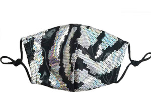 SEQUIN ZEBRA MASK