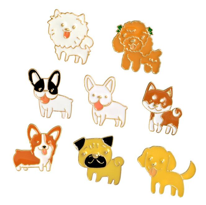 Cute  Dog Brooch Pins