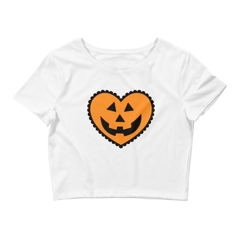 Women's Pumpkin Sweetie Crop Tee