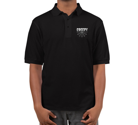 Creepy Crawler Embroidered Polo Shirt