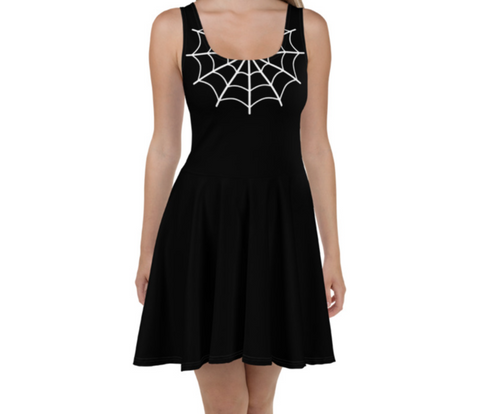 Caught In Your Web Skater Dress
