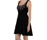 Caught In Your Web Skater Dress (Pink)