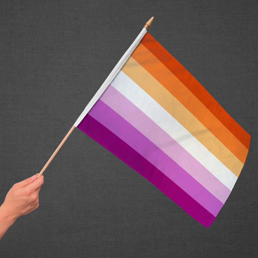 Lesbian Sunset Stick Flag 12x18in