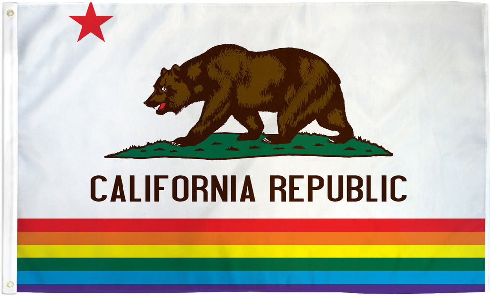 California Rainbow Flag 3x5ft