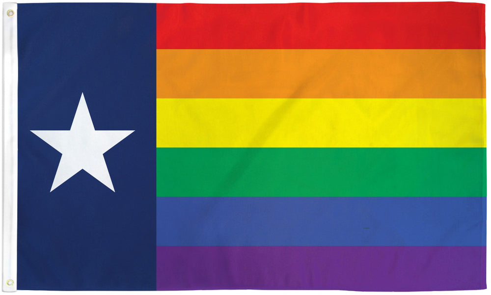 Texas Rainbow Flag 3x5ft