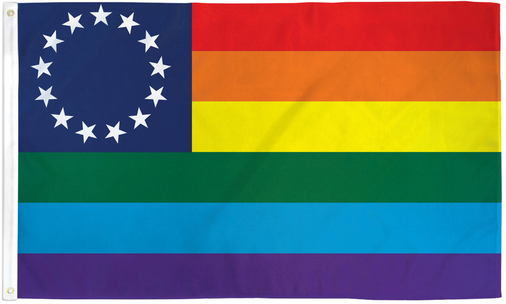 Rainbow 13 Stars Flag 3x5ft