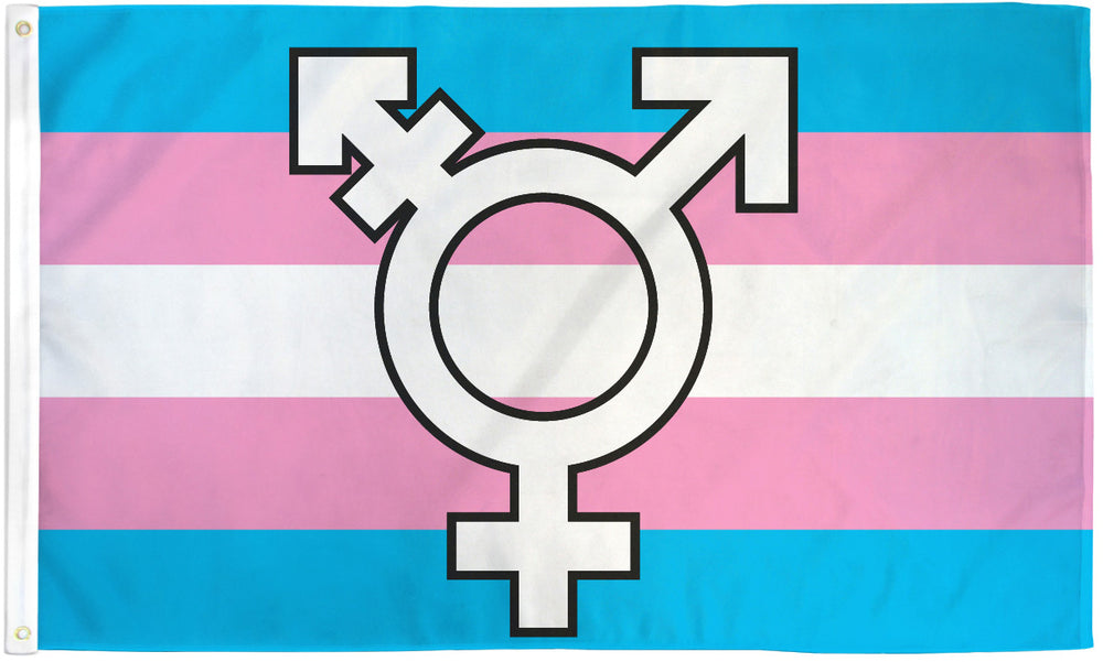 Transgender Symbol Flag 3x5ft
