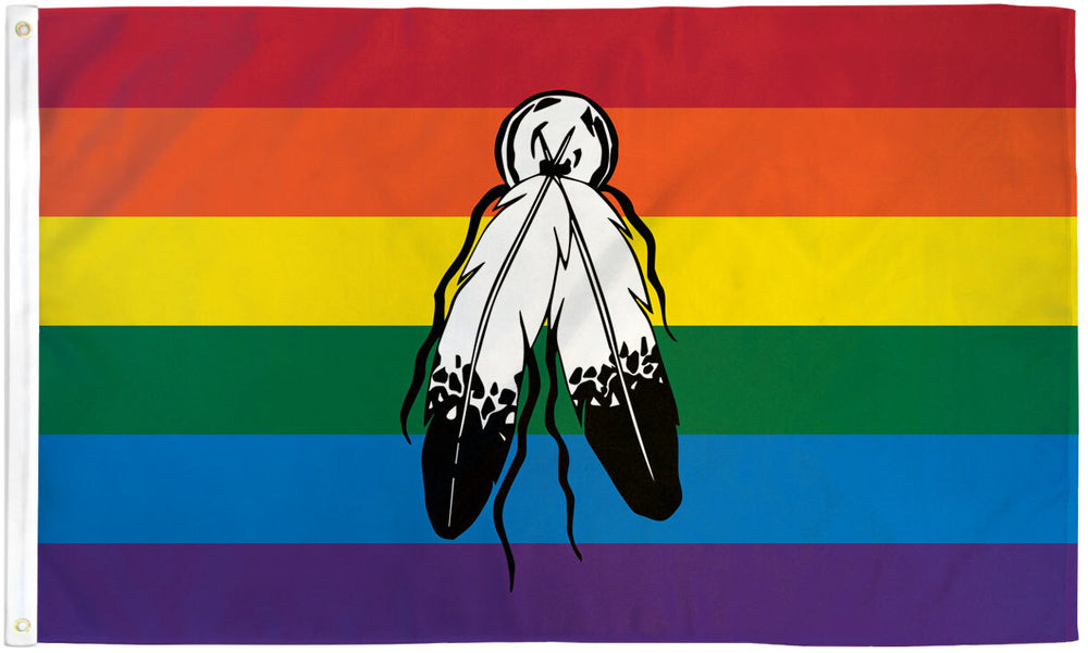Two Spirit Rainbow Flag 3x5ft