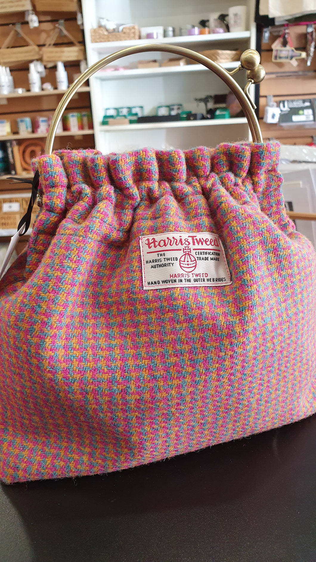 Harris Tweed Clip Bag