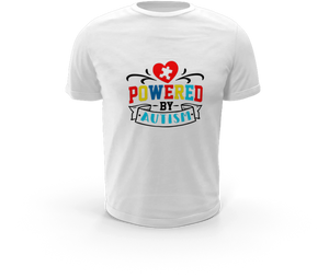 Powered By Autism - Autism T-Shirt
