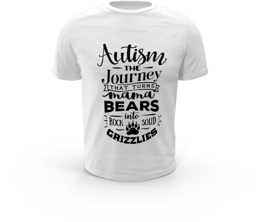 The Journey that turns Mama Bears - Autism T-Shirt