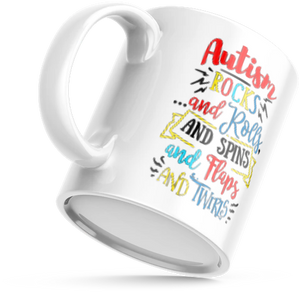 Autism Rocks and Rolls - MUG
