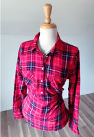 Vintage Kensington Plaid Top - Size Small - Med