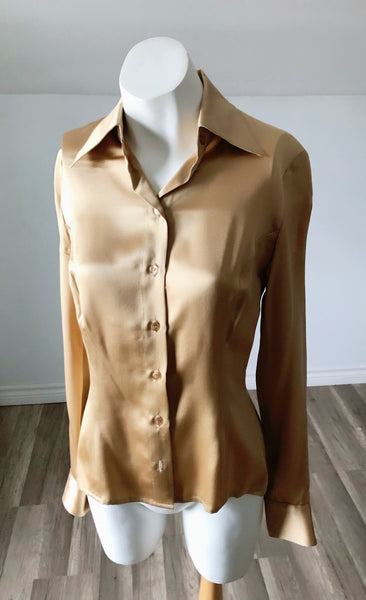 Vintage Golden Blouse - Size Extra Small