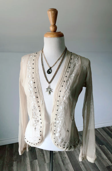 Vintage Thompson Sheer Cardigan - Size Small