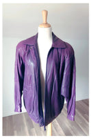 Vintage Purple Old Hide House Leather Jacket - Size Medium
