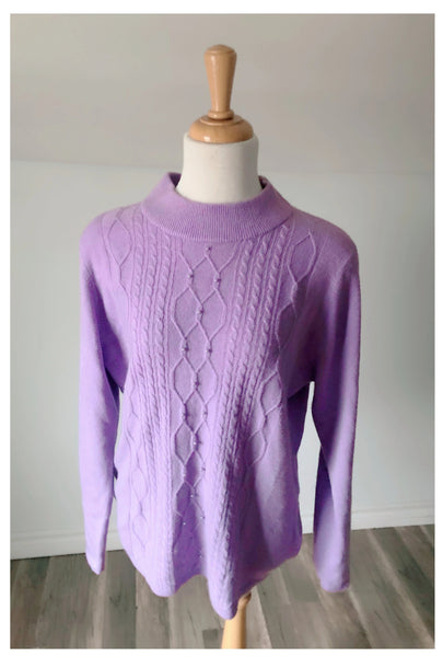 Vintage Lilac Cashmere Sweater - Size Medium