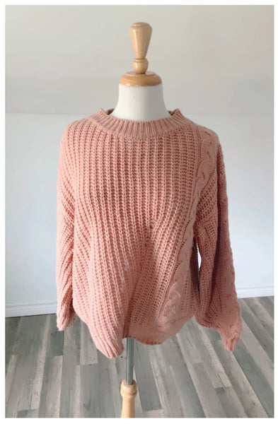 Vintage Alaska Pink Knit Sweater